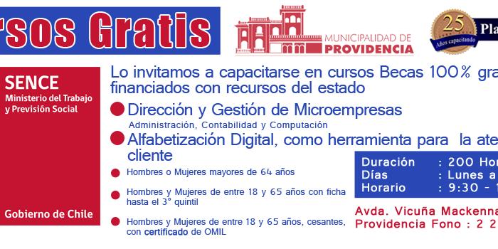 Capacitacion para adultos mayores residentes en Providencia